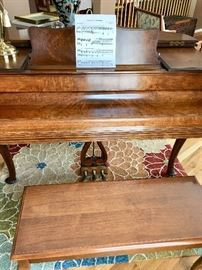 Chickering burlwood piano, Model number 171078