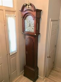 Circa 1795 English tall case clock