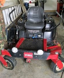 Toro 0-turn tractor.  Good condition.