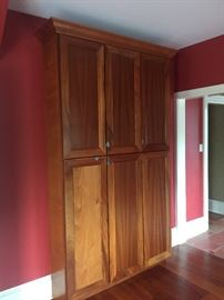 """Built in Cherry cabinet pantry. 55"""" wide and 101"""" high. Sold with or without kitchen cabinets. $450"""
