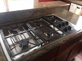 """Thermadore gas cooktop. 36"""" X 23""""  $400"""