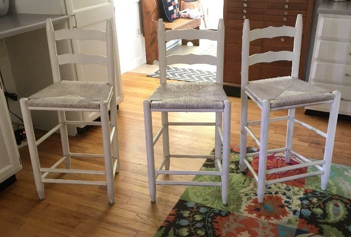 Island kitchen stools, selling separately or as a group of three.