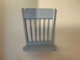 "Cool ""chair"" shelf."