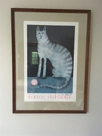 Tomie dePaola signed and professionally framed poster.