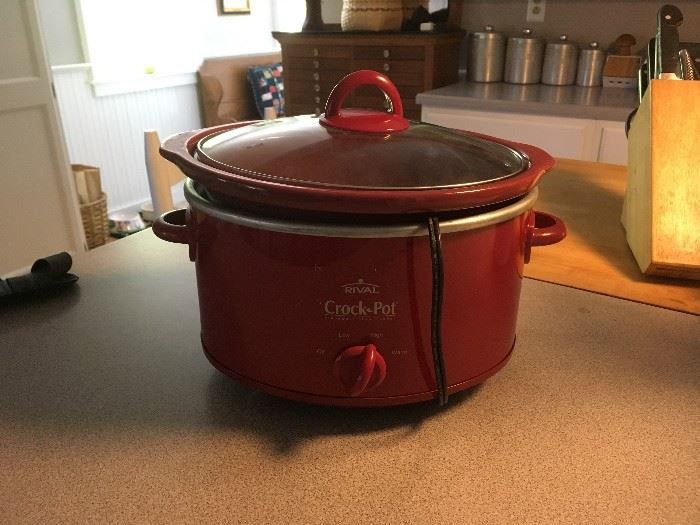 We have a crock pot and other small appliances to offer for sale.