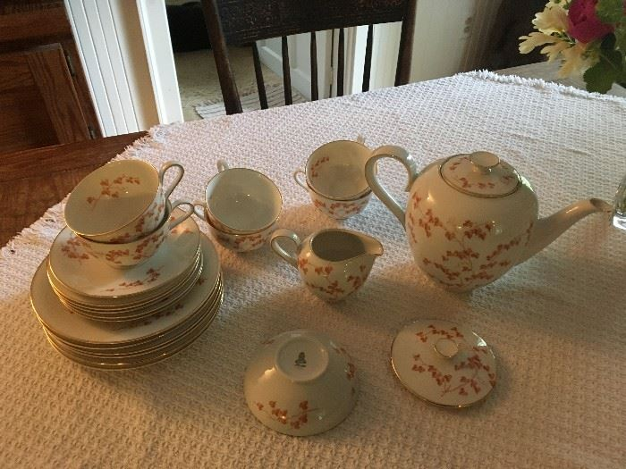 Vintage (purchased new in 1952 in Germany) H&C Heinrich Selb Bavaria Anmut #76585.  In pristine condition, never used.  Absolutely beautiful tea service.