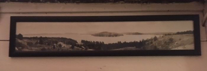 Early 20th-century framed photo of Lake Sunapee, extremely rare.  Framed in Hoboken, NJ.