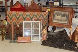 Antique and vintage architectural pieces.