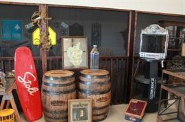 Glen Livet  bar mirrors and Stoli wake board displays.