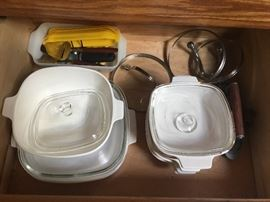 Kitchen pots, pans, glassware & dinnerware