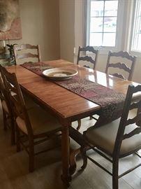 Farmhouse table & chairs - Ethan Allen