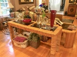 Console table & 3 end tables