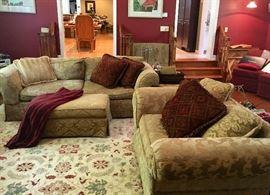 Living room sofas & fine area rug