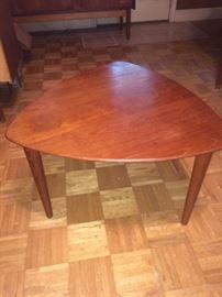 teak lamp table - repair on one corner