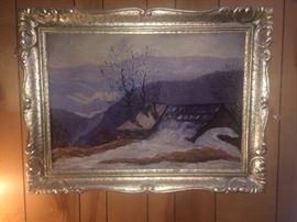 Antique European oil painting