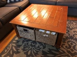 Coffee Table with Storage Crates $ 100.00