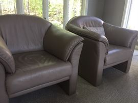 Another view of Brayton leather club chairs - 4 available