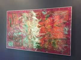 """""""How Many Lovers Can You Take"""" - by Rita Dibet - large acrylic framed"""