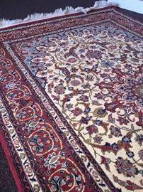 Kashan 100% wool hand made area rug 4 x 6