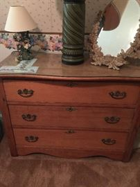 Tiger oak antique dresser