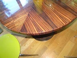 Custom Made Ebony Inlaid Dining Table