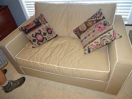 "Crate & Barrel Sleep Sofa  Love Seat  55"" X 36"""