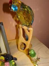 Large Swarovski Crystal Parrot