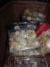 Lots of Vintage Buttons & Sewing Notions