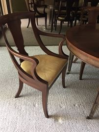 BAKER FURNITURE - dining arm chair 2 - 4 side chairs