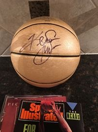 Kenny Smith autographed Basketball