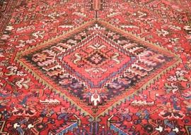 "$1400 - Detail of Vintage Persian Heriz Area Rug (approx 126"" x 96"")"