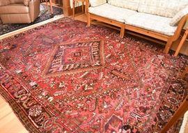 "$1400 - Vintage Persian Heriz Area Rug (approx 126"" x 96"")"