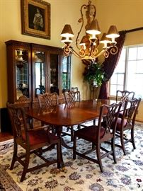 Councill Mahogany Chippendale Dining Room Set