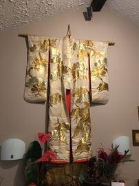 Very RARE Silk Brocade Gold Kimono