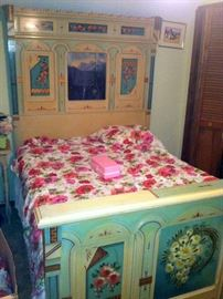 Victorian Hand Painted Cottage Bedroom Set