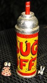 Folk art can of bug spray by Cal Roberts