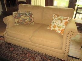 Loveseat with matching sofa