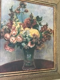Museums of France. Breaststroke collection. Flowers in a Vase. Pierre Auguste Renoir. Artist enhanced. 174/980