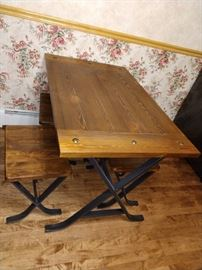 Cabin Style Kitch Table with Bench Seating.  $195.