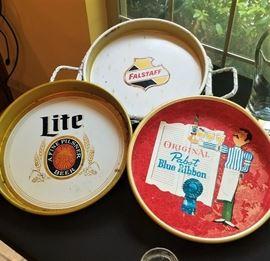 Vintage Bar Beer Trays