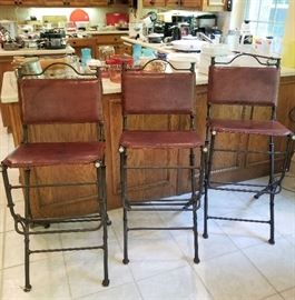 Awesome set of 3 Rustic/Western barstools