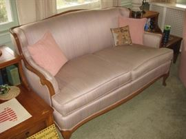 Gorgeous reupholstered settee/loveseat.