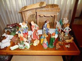 Nativity Scene with Creche