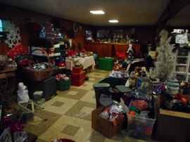 THIS IS THE BASEMENT!!! FILLED..With CHRISTMAS..there is a few other holidays that are found