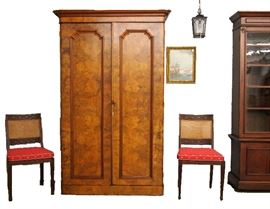 Wall View Grouping - Antique furniture setting
