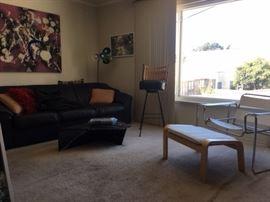 couch, wall art, light fixtures, etc.