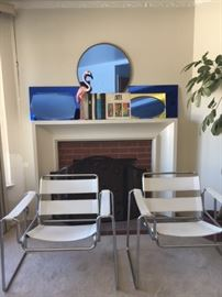 Wassily type chairs.  Cool art deco mirrors.