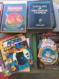 books and comic books.