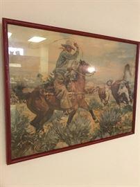 Very old signed western art