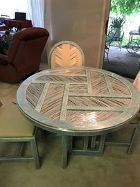 Very unique southwest style wood twig and glass table
